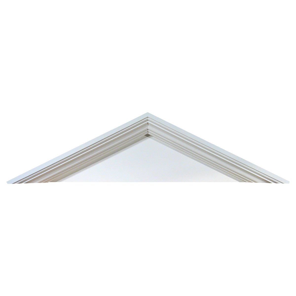 "Fypon PCP667 68 3/4""W x 23 5/8""H x 5 1/2""P, Pitch 8 / 12 Peaked Cap Pediment in Urethane"