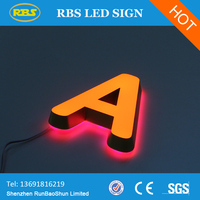 Hot sale applican to outdoor or indoor LED Channel Letter front and back lit channel letters
