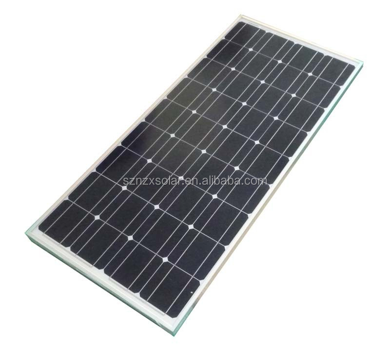 12v 100w 8 33a Glass Laminated Mono Solar Panel With Ce