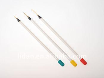 Set of 3 sable nail art brushes pen detailer liner and striper set of 3 sable nail art brushes pen detailer liner and striper prinsesfo Choice Image