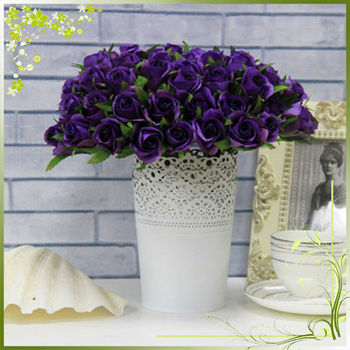 Qh26 0036 Artificial Flowers 26 Heads Rose Bush For Indoor Decoration And Wedding