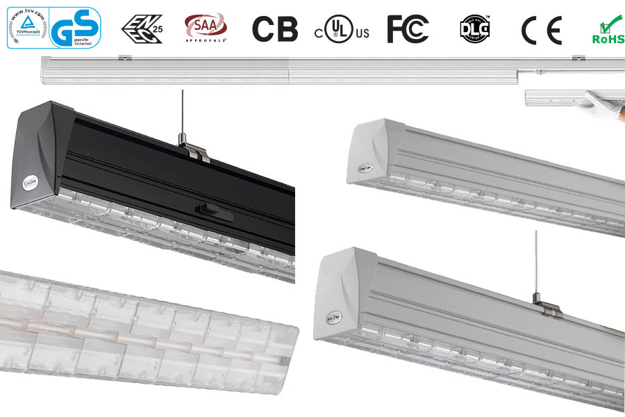 Grocery Cross Aisle Lighting Coreshine Led Linear Trunking System ...