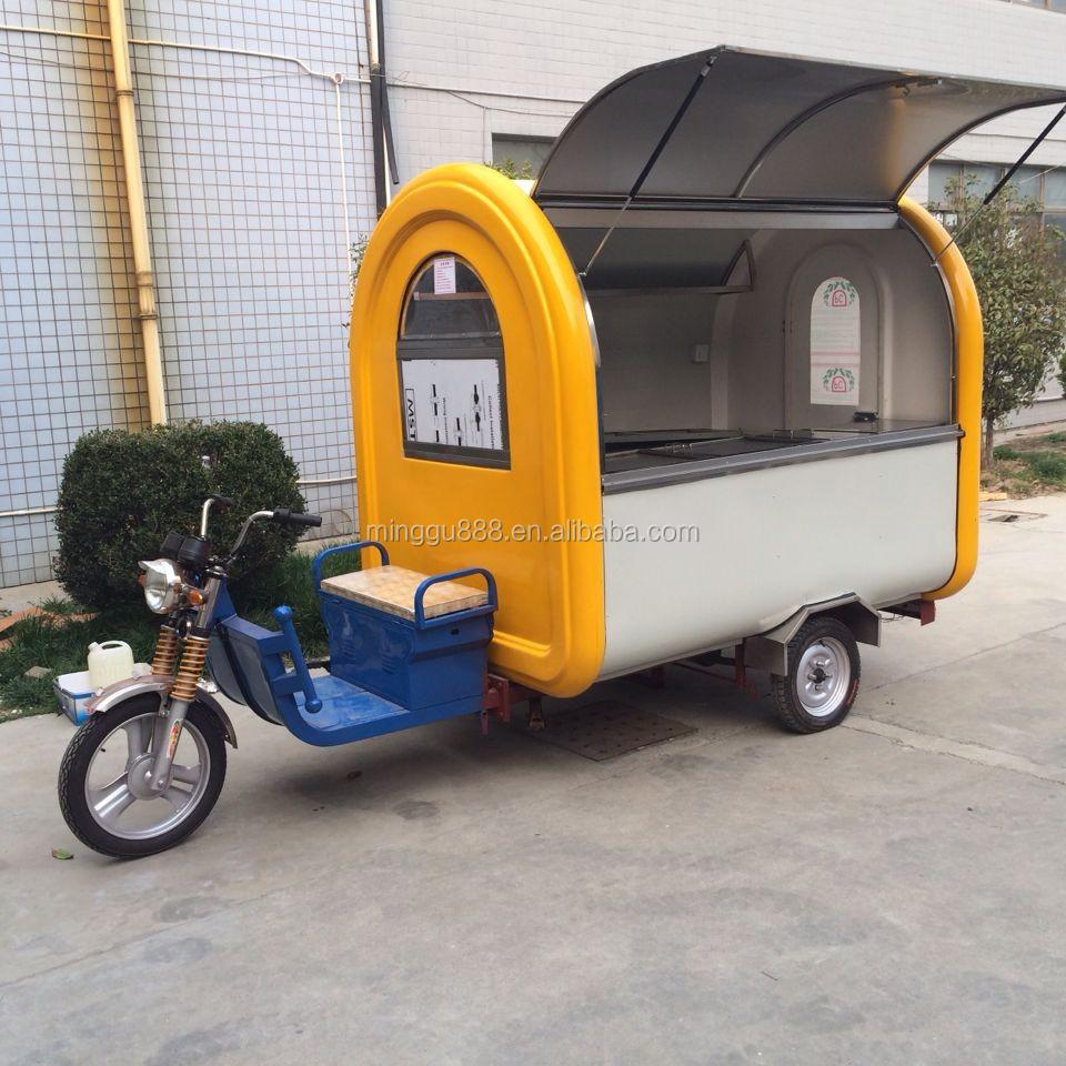 Food Vending Caravan Tricycle Cart,Mobile Motorbike Food ...