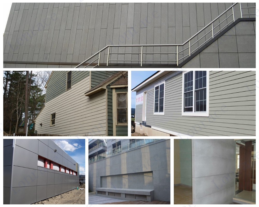 Black Grey Fiber Cement Board Exterior Wall Panel Buy Fiber Cement Board Black Grey Fiber