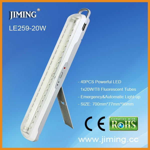 Rechargeable 40 LED and 1*fluorescent tube Luce di emergenza---LE259-20W