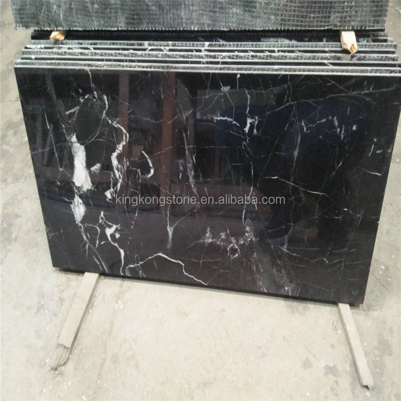 factory direct supply nero marquina black marble tile