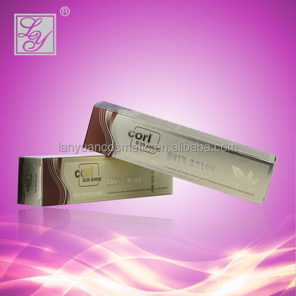 100ml hot sell keratin hair dye color cream for white hair fastest dye