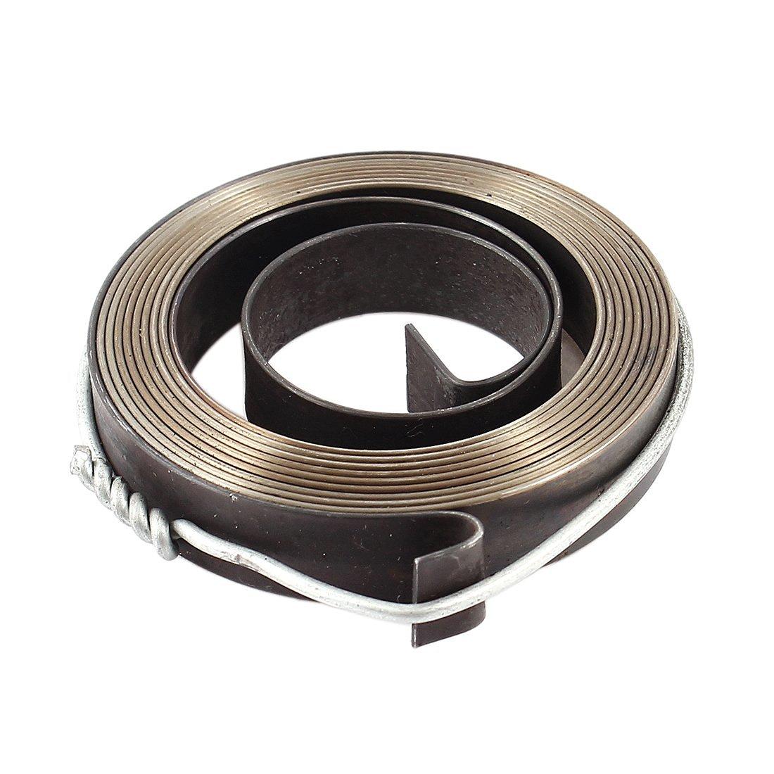 uxcell Steel Recoil Starter Spring for Bench Drill Z512-2 Z516 Z512B 10mm Width Gray