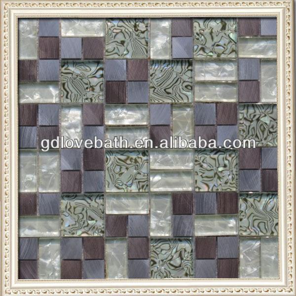 Adesivo auto di vetro e piastrelle di mosaico del metallo for Mosaico adesivo per cucina