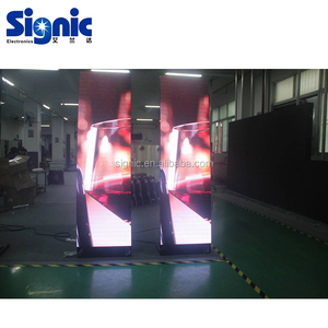 P3 Wireless Control 3G 4G Wifi Video Function Programable Poster LED Billboard Advertising Stand LED display LED Mirror Screen