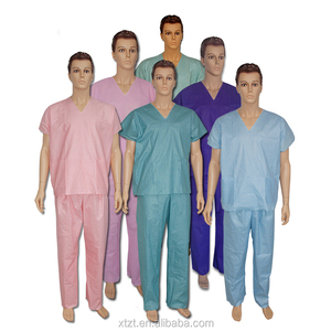 Fashionable medical disposable scrub/scrub suit/nurse hospital uniform designs