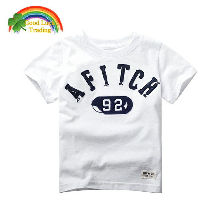 2017 best quality custom design children promotional cotton t-shirts