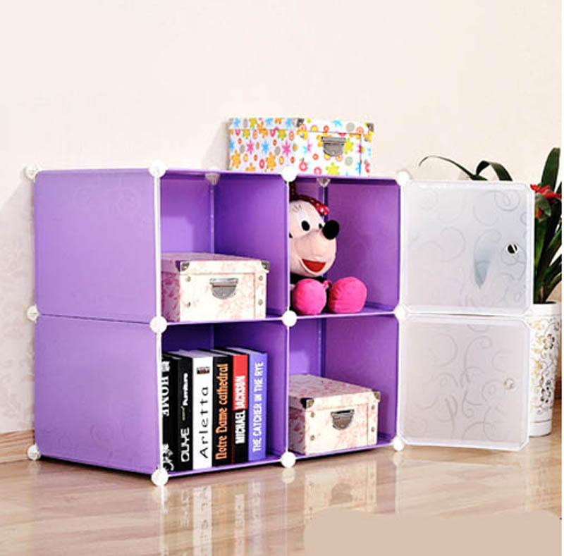 4 Cubes India Cheap Storage Cabinets Plastic Living Room FH AL0016