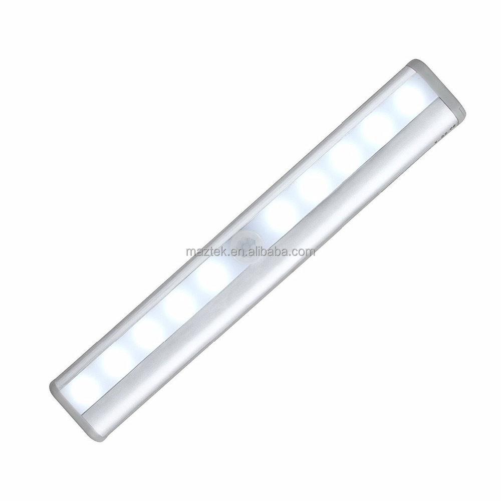 Ultra Thin Mini Built-in Battery Rechargeable Motion Sensor LED Night Light with 3M Adhesive,Magnetic Strip,Screws for Under Cab
