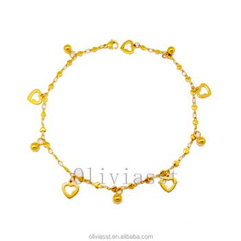 Trends Women Bracelets Jewelry Artificial 22k Gold Chain Bracelet S