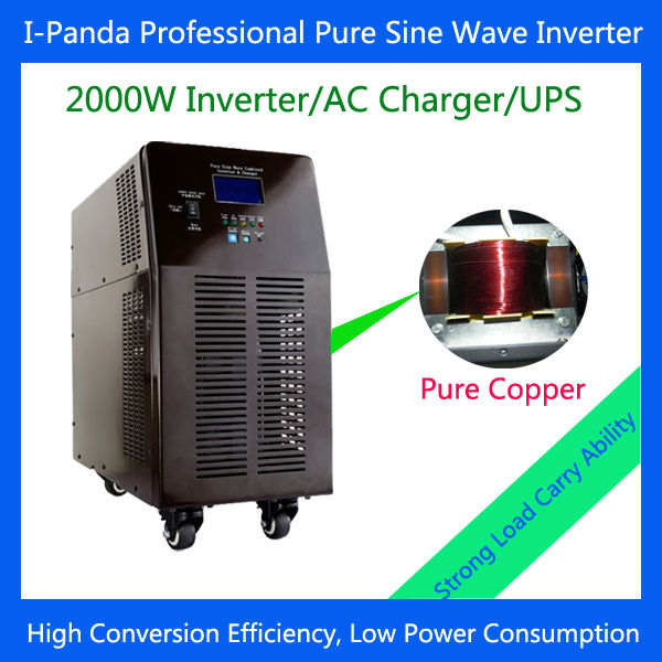 Sleep mode/work mode /adjustable charge current pure sine wave inverter 12/24/48vdc with battery charger & UPS