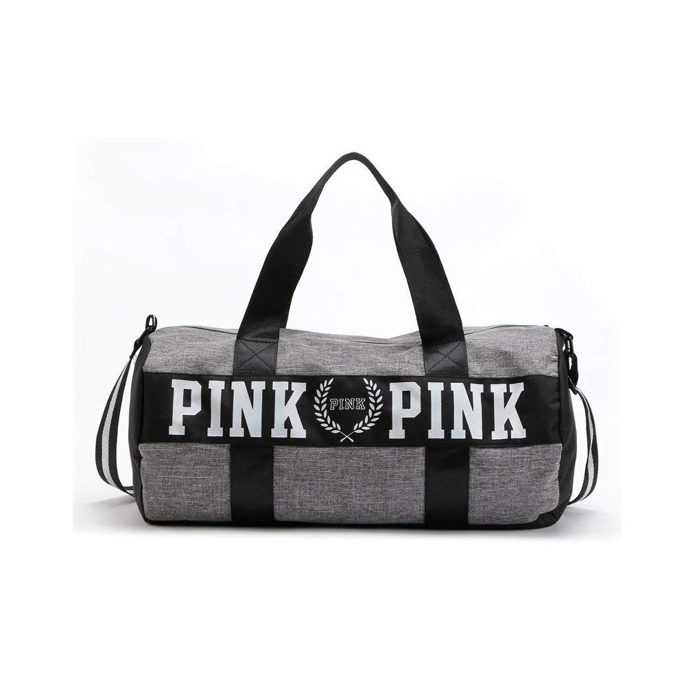 d2aa7d5d9add Get Quotations · NWT Victoria Secret Love PINK Double Strap Duffle Gym Bag  Yoga Bag With Logo