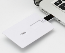Promotion Gifts White Flip card usb Flash drives Memory PenDrives Credit card 4GB 8GB Full Logo Printing