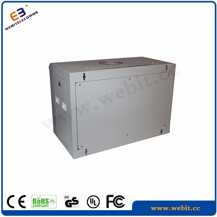 cabling system,4U,6U,12U,18U,22U used for telecommunications wall mounted single section 19'' wall rack