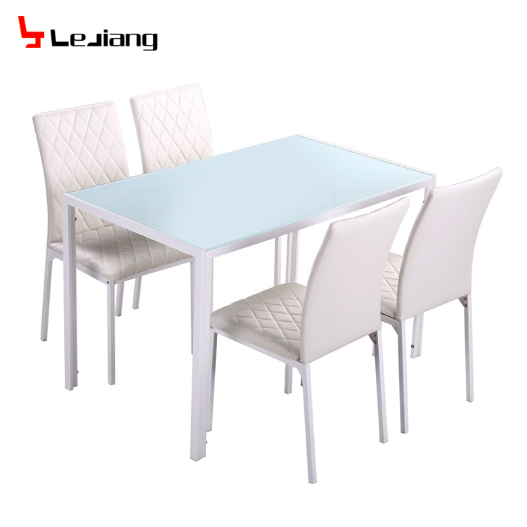 e1b5aa01165 Free sample cheap classic 4 seater modern fiber glass top dining table set dining  table and chair