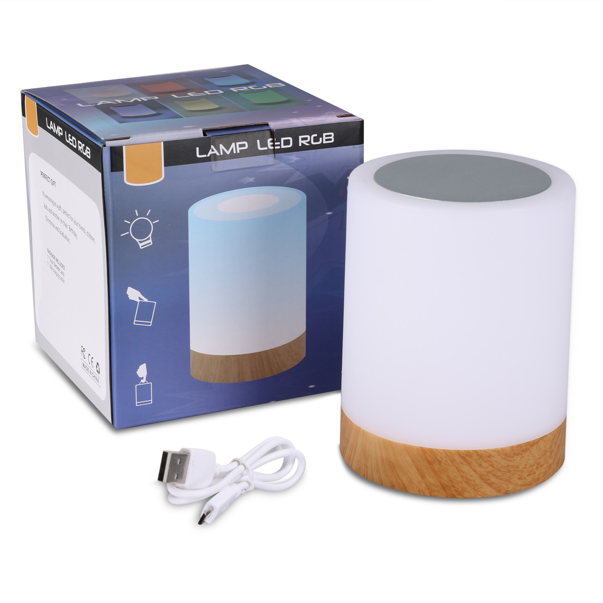 USB Rechargeable LED Night Light for Kids LED Lamp with Sensitive Touch Control Baby Nursery Lamp