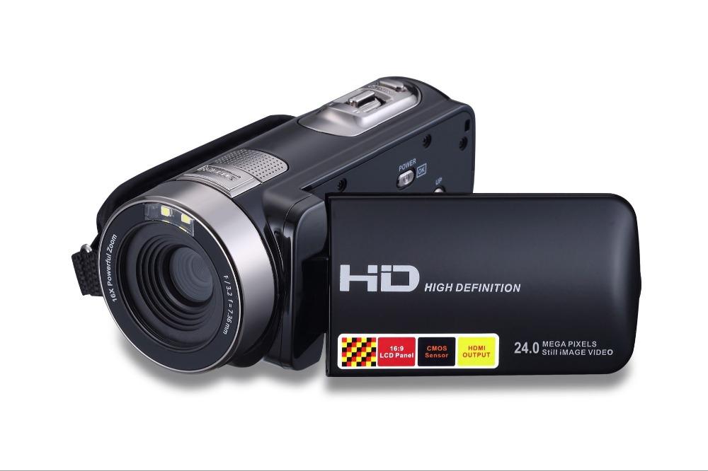 HD 24 million pixels digital video cameras 3.0 display