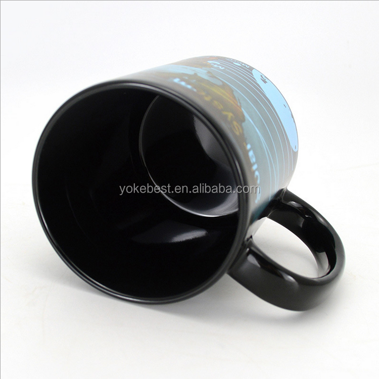 UCHOME New Novelty Toy Heat Sensor Cup World Map Color Change Mugs