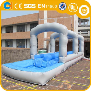 backyard inflatable flat water slide for adult,funny water game slide for lake good price with price