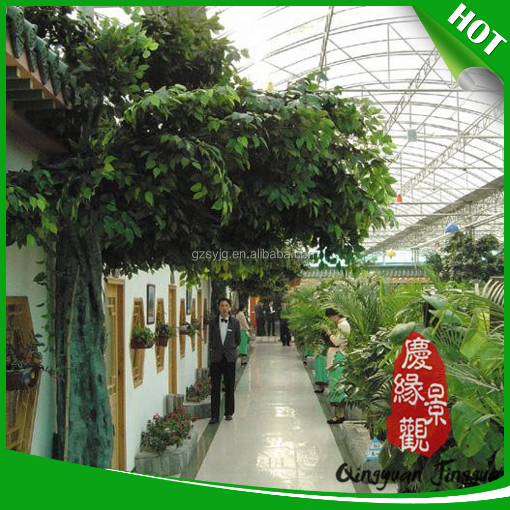 direct manufacterer artifical banyan flower tree/artificial outdoor decoration tree for new store open decoration