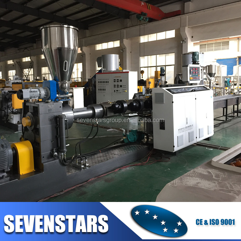 hopper feeder type plastic waste pelletizing recycling granulator machine for recycling pp / pe / abs / ps scraps