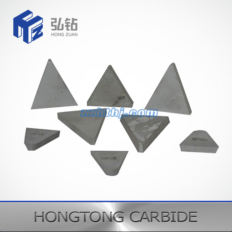 Tungsten carbide tips for roller grooving tools in sugar industry