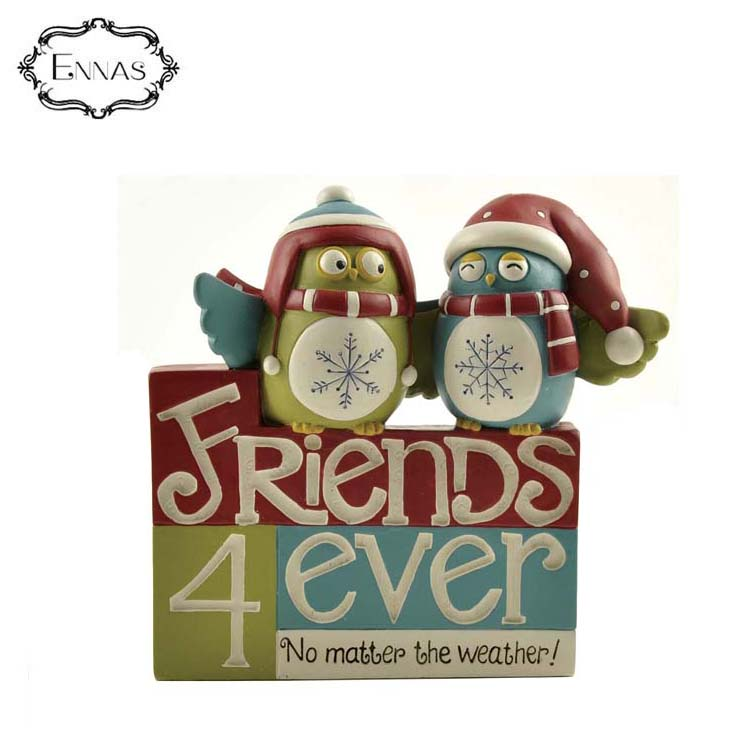 Owls block with 'friends 4 ever' the latest fashion cute christmas owl crafts