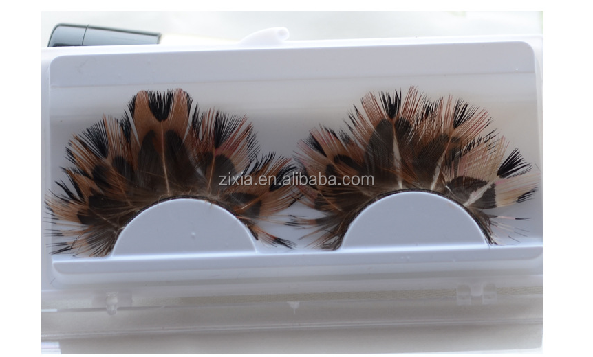Dancing party false feather eyelash lash wholesale&custom eyelash packaging