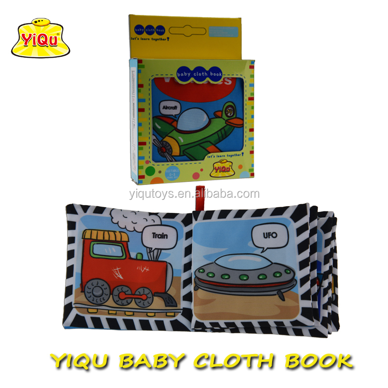 OEM early educational baby cloth book for kids soft baby quiet book for kids