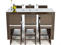 Hottest rattan bar furniture outdoor rattan bistro furniture set factory direct wholesale