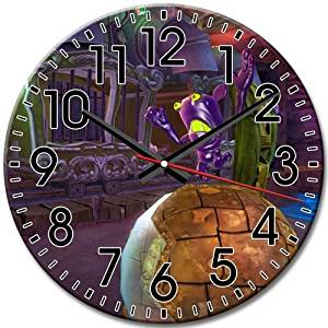 Frameless Disney Epic Mickey Round Wall Clock Silent Fashions Functional Arabic Numbers 10 Inch / 25 cm Diameter