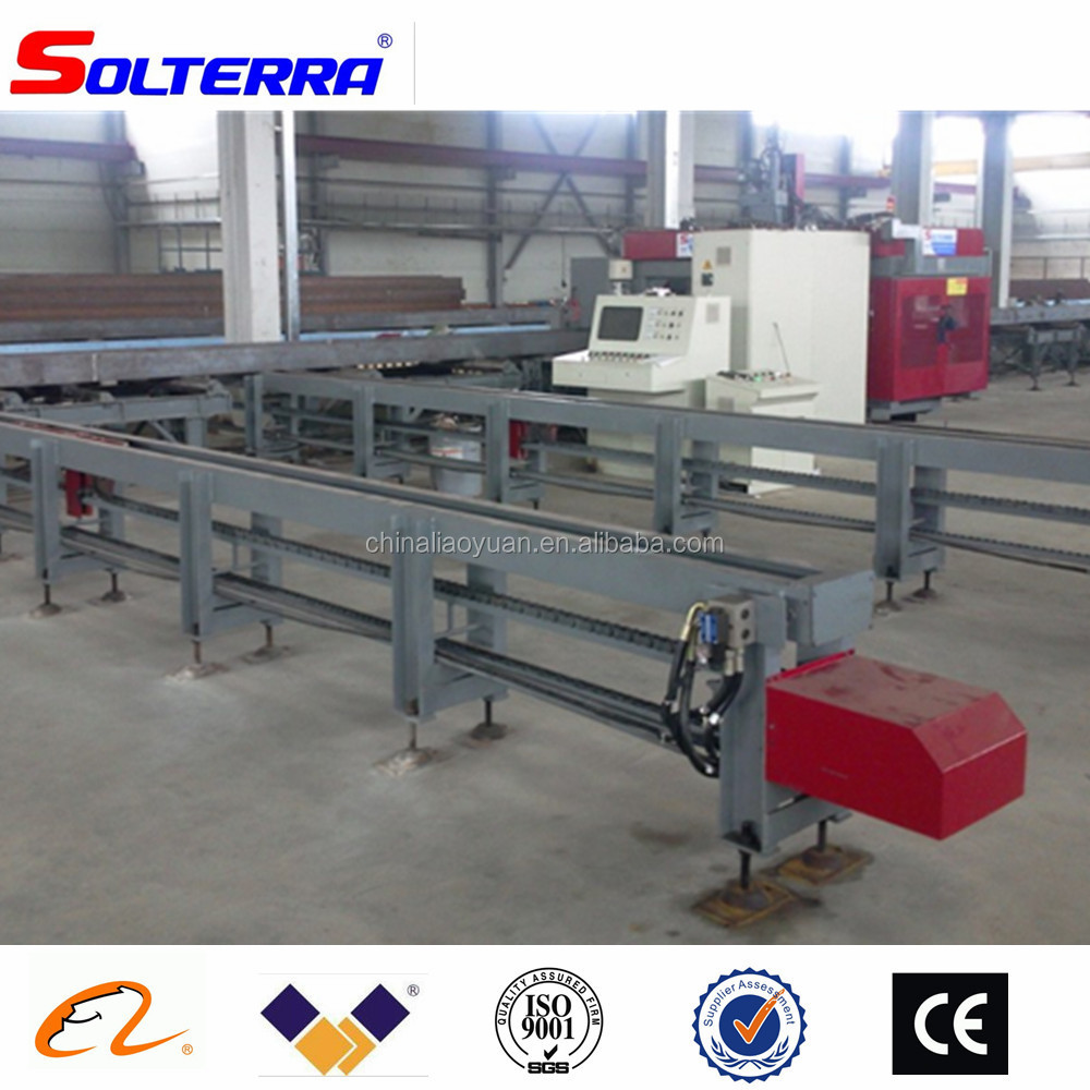 China Solterra CNC H I U Beam Drill Saw Line for Steel Fabrication
