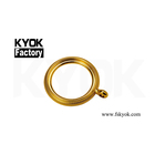 KYOK China Manufacture Wholesale Wooden Curtain Ring Plastic Curtain Ripple Fold Tape Rose Gold Polyester Curtain Tape H520