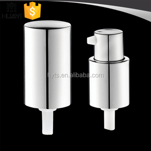 aluminium silver 18/415 lotion pump with cap
