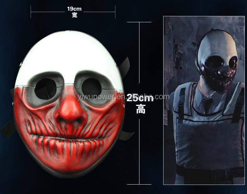 payday 2 movie scary clown mask halloween party mask joker mask