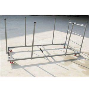 Generous regular table cart/stored tools for folding table/easy assemble steel trolley with wheels