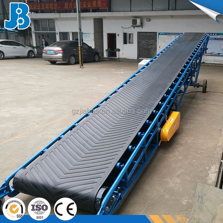 Large transmission capacity movile belt conveyor saw dust