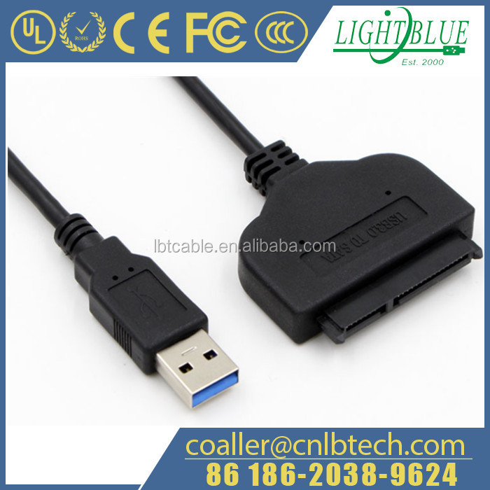 """1pc USB 3.0 Adapter Cable UASP 2.5/"""" SATA Hard//Solid State Drive SSD HDD Transfer"""