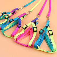Colorful chest back type traction band rainbow color dog rope pet supplies leash for dog