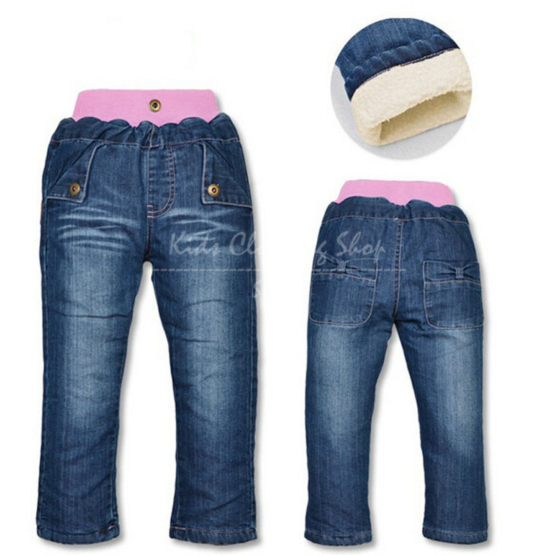 783cb5fd02f Get Quotations · Free shipping New Baby Girls Casual Solid Cotton Jeans  Pants Children Jeans Trousers Kids Jeans Winter