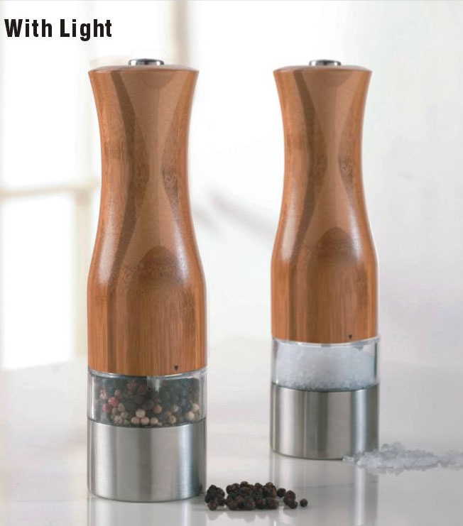 Hot multi - color optional electric salt and pepper mill