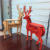 fancy wood deer office table decoration