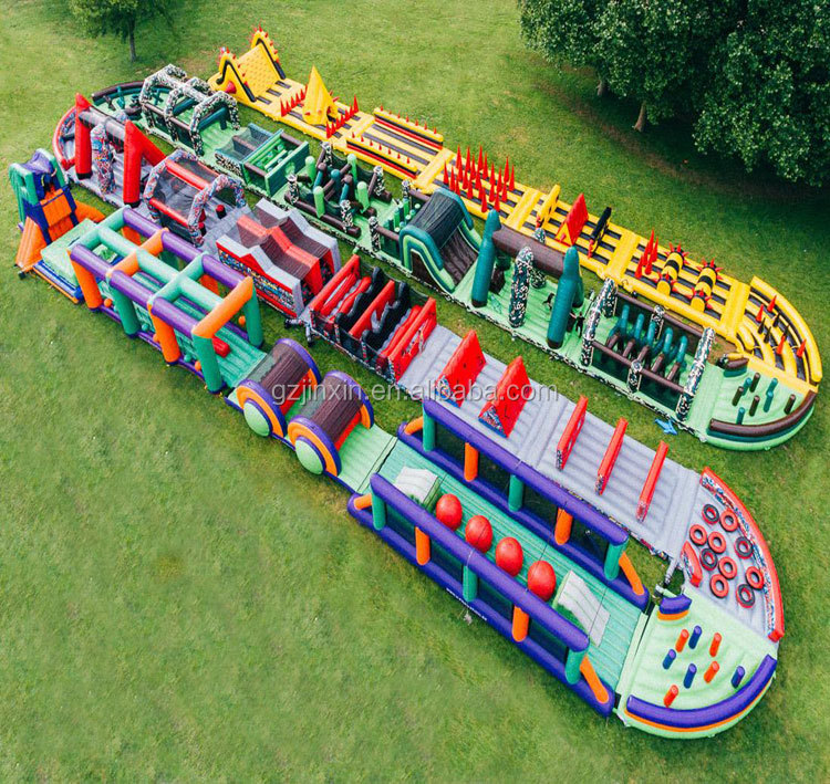 The Giant Adult Beast Mage Run Inflatable Obstacle Assault Course Equipment