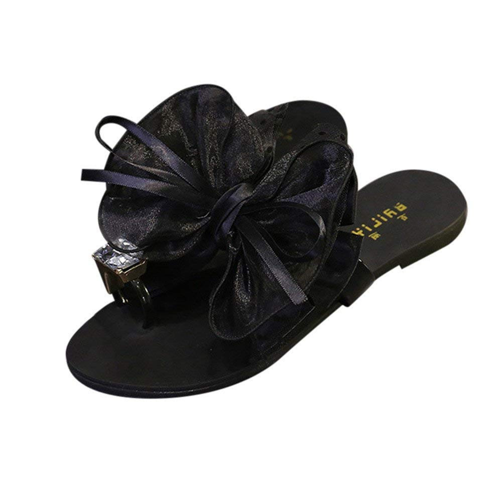 0bf1f368dcad8b Get Quotations · Hot Sale!Slippers For Women-Flower Bow Slippers Flat Heel  Slippers Toe Sandals Beach