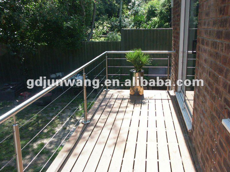 jw b092 satin balcon en acier inoxydable balustrade rampes. Black Bedroom Furniture Sets. Home Design Ideas